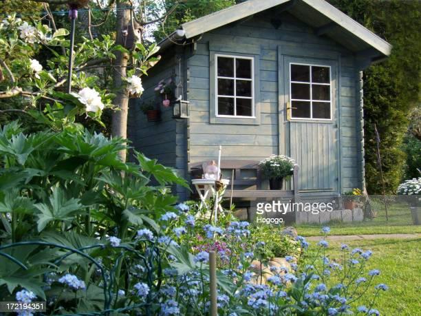 Blue summerhouse
