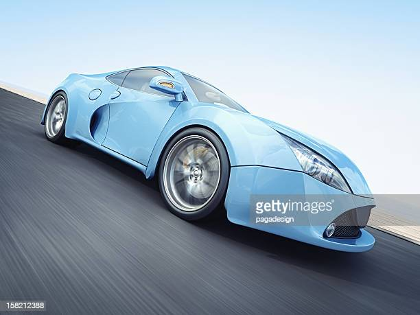 blue supercar