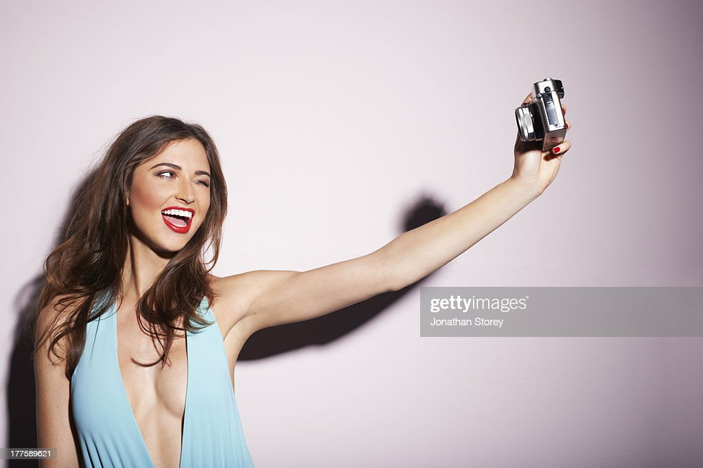 Blue Swimsuit self portrait : Stock Photo
