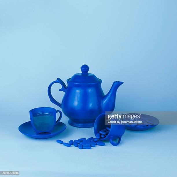 Blue tea party madness - still life