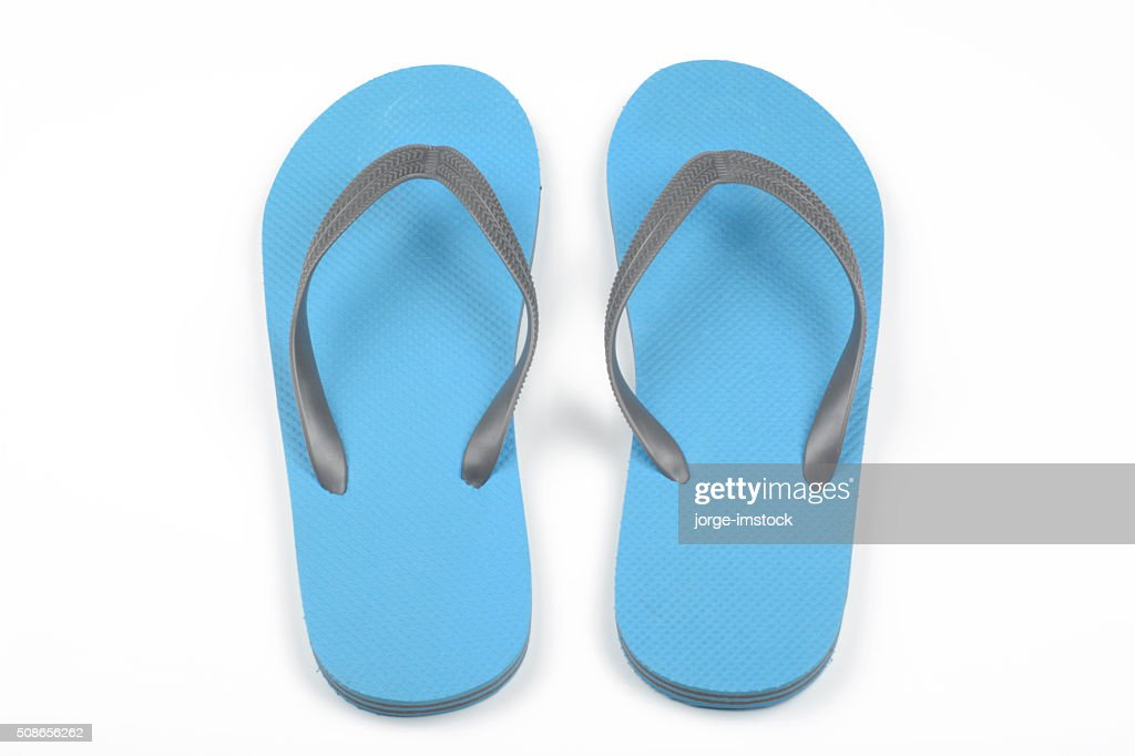 Blue thongs : Stock Photo