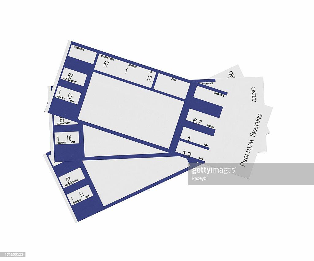Blue Tickets : Stock Photo