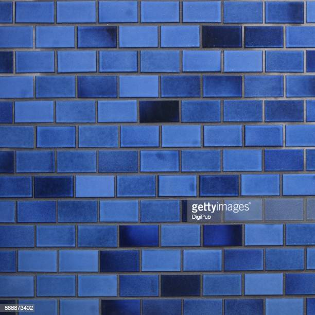 Blue tiled wall texture