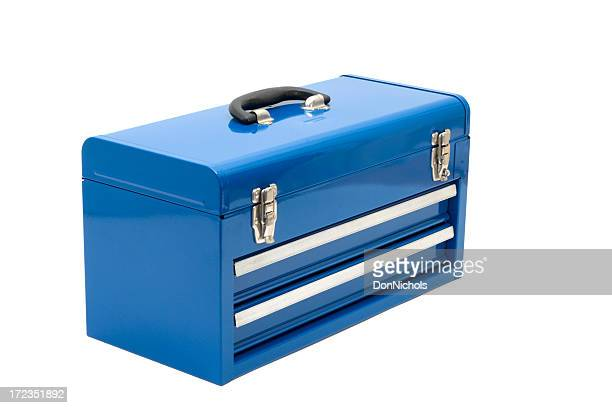 blue toolbox - toolbox stock photos and pictures