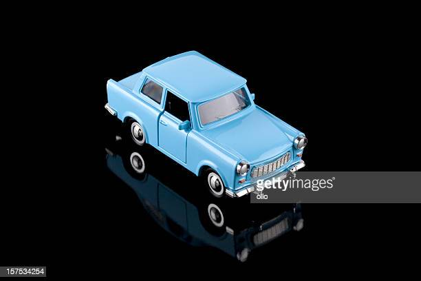 Blue toy car - Classic Trabant from East Germany