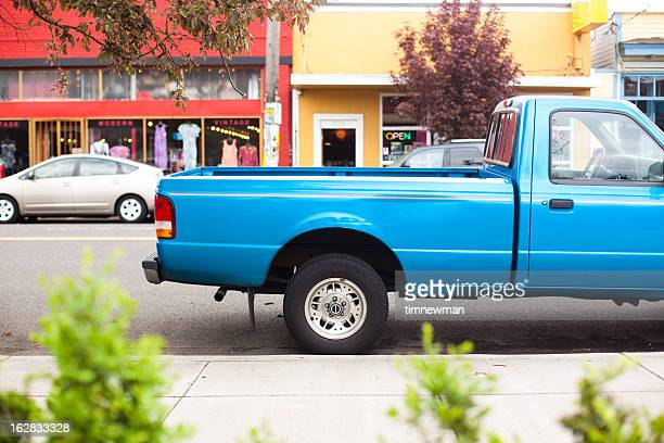 blue truck bed - pick up truck stock pictures, royalty-free photos & images