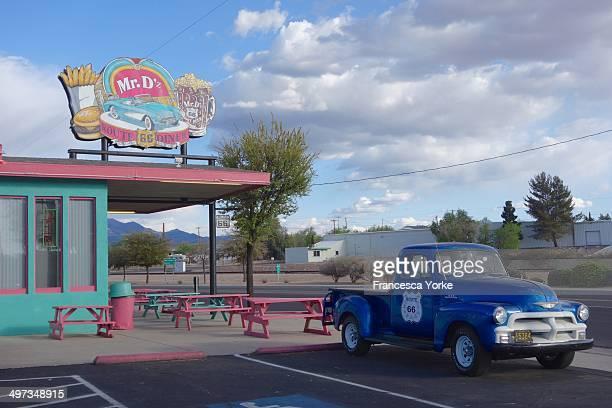Blue Truck Route 66 Diner Kingman Arizona