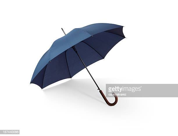 blue umbrella w/clipping path - umbrella stock pictures, royalty-free photos & images
