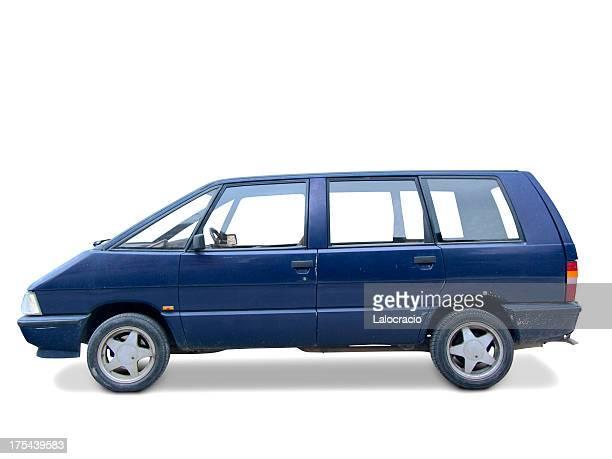 blue van - mini van stock pictures, royalty-free photos & images