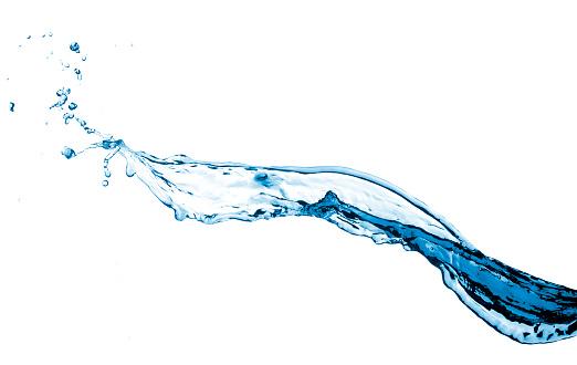 Blue water splash 183538255