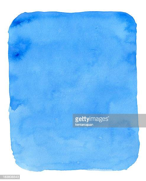 Blue Watercolor Bagde
