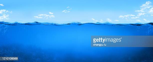 blue waves;the ripples rippled in circles - 海中 ストックフォトと画像