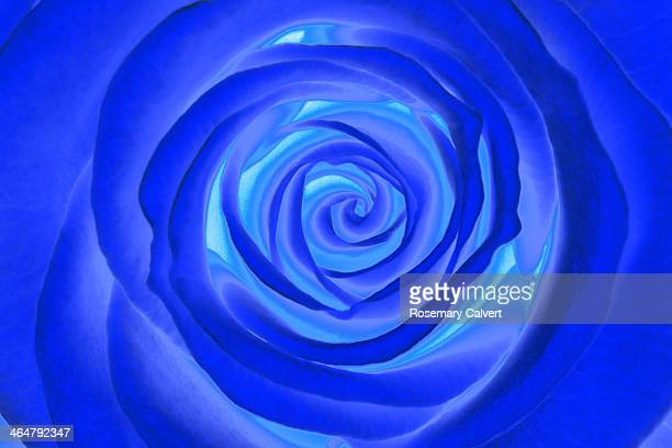 Blue whirl abstract