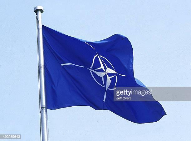 blue white NATO Flag