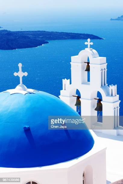 blue & white - santorini stock pictures, royalty-free photos & images