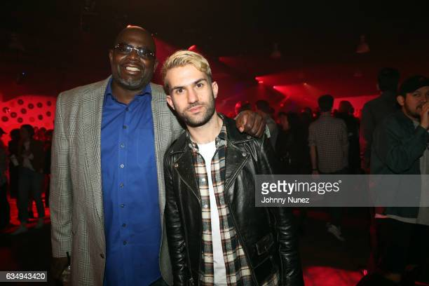 Blue Williams and ATrak attend The FADER x Mastercard Present Charli XCX BJ The Chicago Kid And ATrak In Concert on February 11 2017 in Los Angeles...