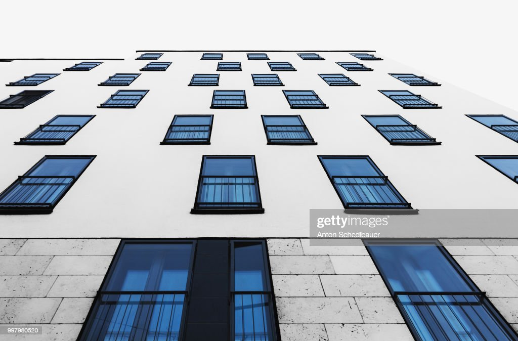 blue windows : Stock-Foto