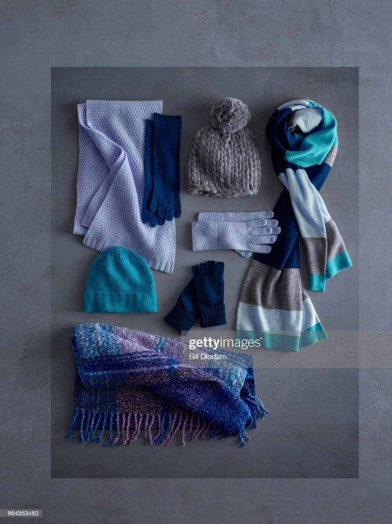 blue winter clothes : Foto de stock