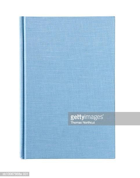 Blue workbook on white background