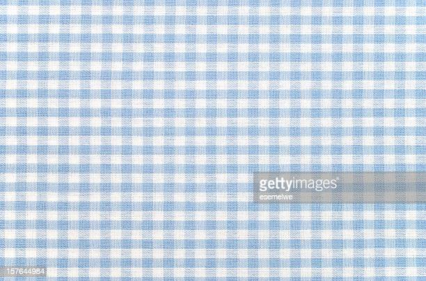 blue-and-white checkered gingham fabric - textile stock pictures, royalty-free photos & images