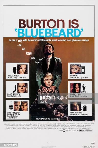 Raquel Welch Karin Schubert Sybil Danning Nathalie Delon center from top Richard Burton Joey Heatherton right from top Virna Lisi Marilu Tolo...
