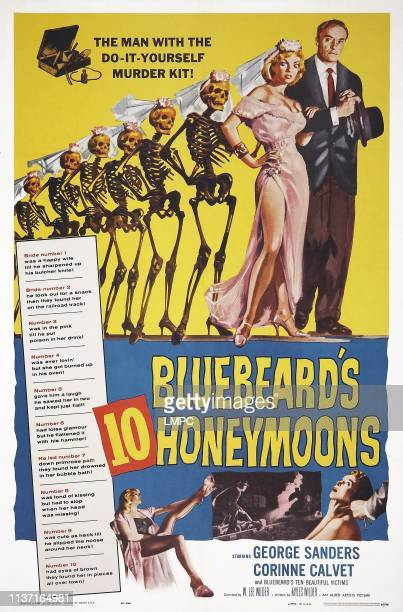 Bluebeard's Ten Honeymoons poster US poster art Corinne Calvet George Sanders 1960