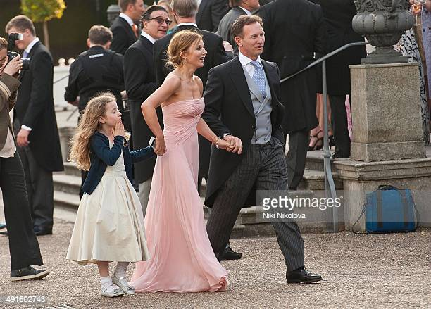 Bluebell Halliwell Geri Halliwell and Christian Horner attend Poppy Delevingne and James Cook's wedding reception held in Kensington Palace Gardens...