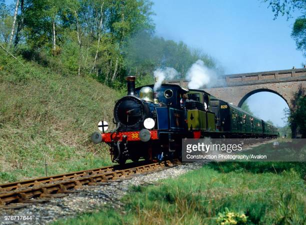 Bluebell Railway Gala Day No 323 Bluebell and Adams Radial No 488 head the 1100 out of Horsted Keynes at Three Arch Bridge United Kingdom