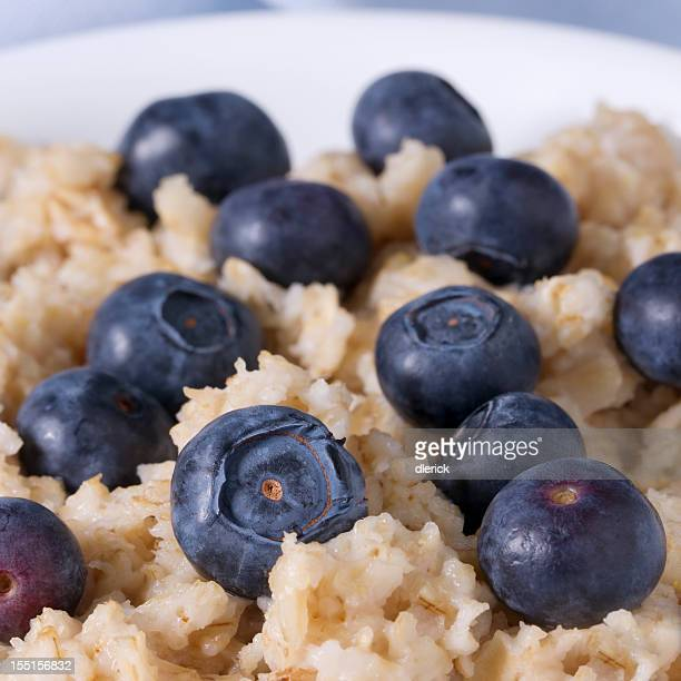 Blueberries and Oatmeal Breakfast