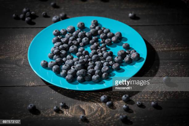 Blueberries on plate