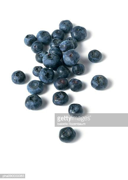 Blueberries, white background