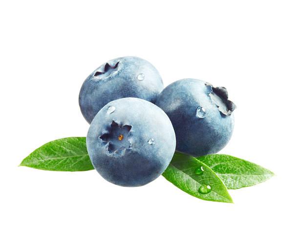 blueberries with leaves - 藍莓 個照片及圖片檔
