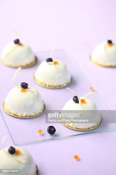 Blueberry and Orange Mousse Cakes