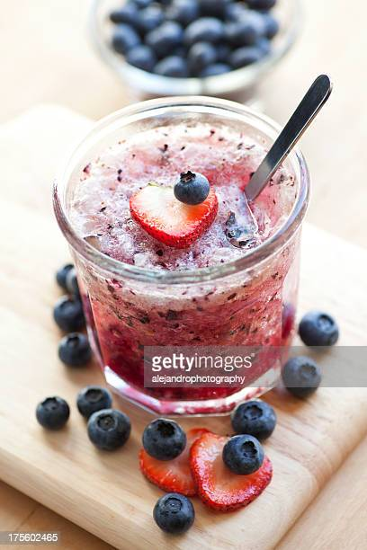 Blueberry and strawberry cocktail