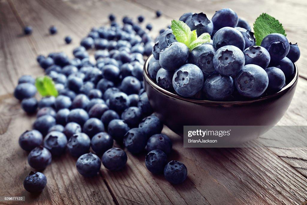 Blueberry antioxidant organic superfood : Stock Photo