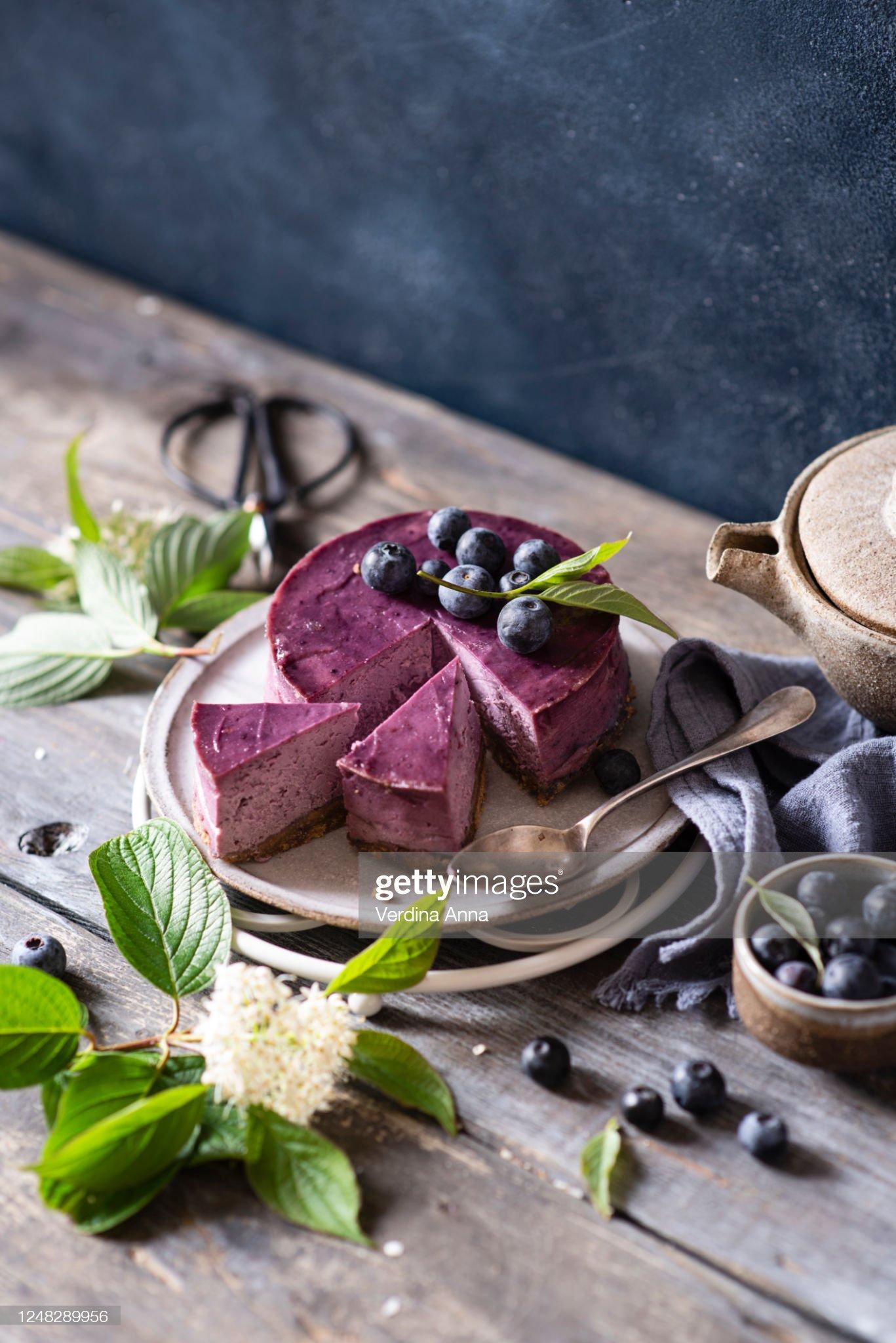 Blueberry cheesecake : 圖庫照片