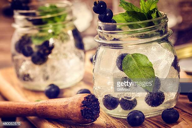 Blueberry Mojito as Fresh Summer Drink