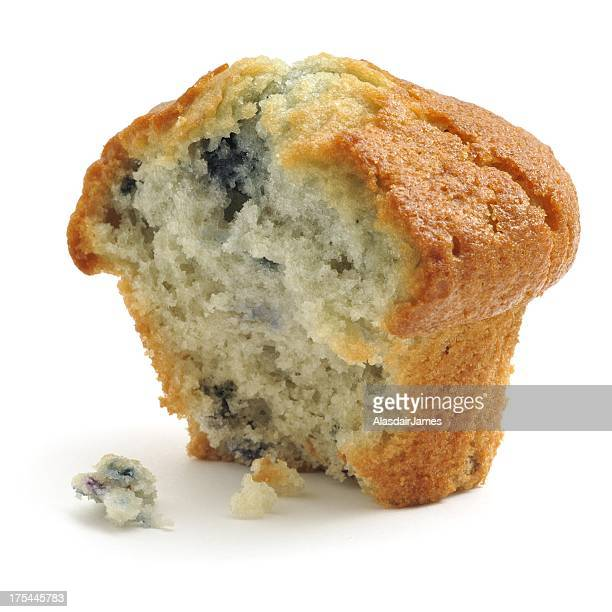 Blueberry Muffin, half eaten
