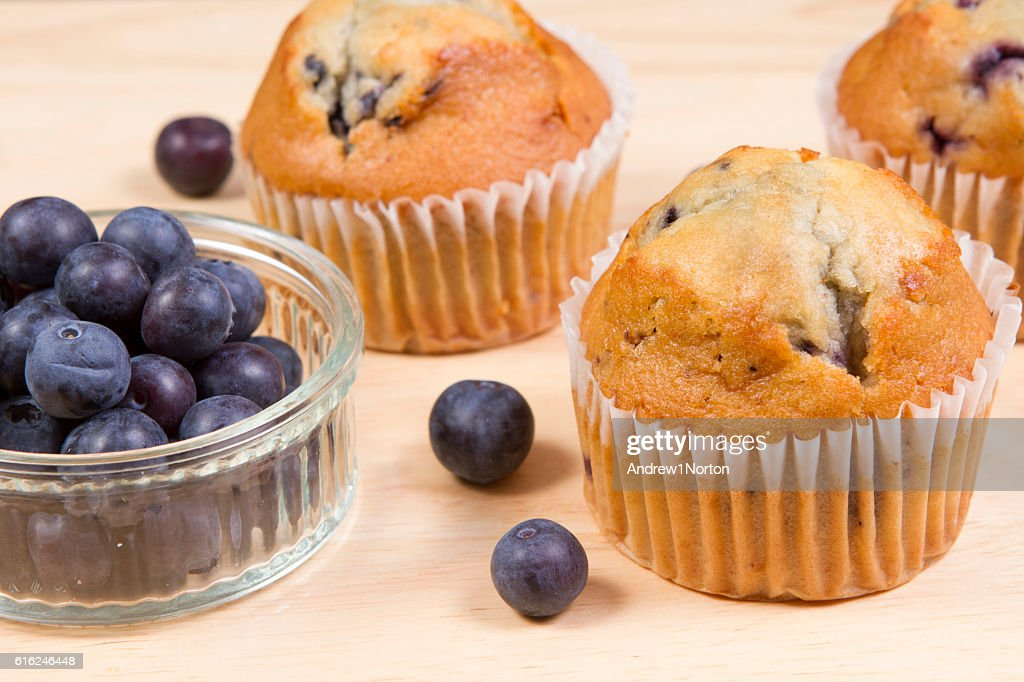 Blueberry muffins : Stock Photo