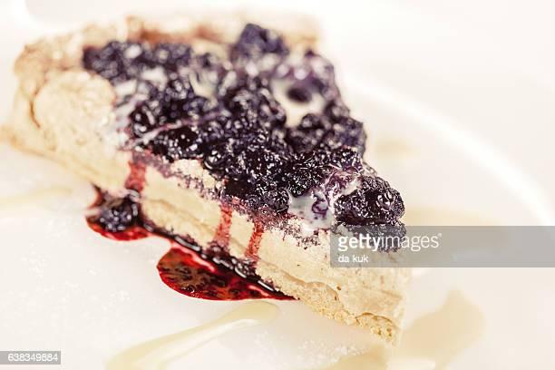 Blueberry pie close-up