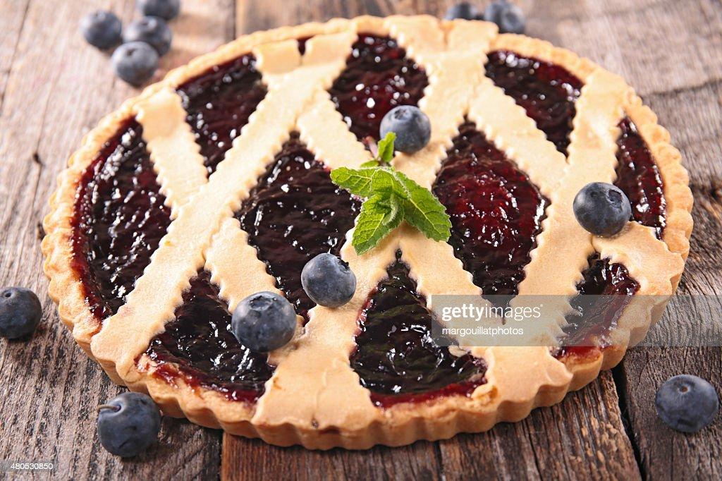 blueberry tart : Stock Photo
