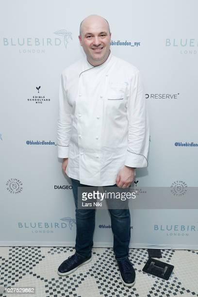 Bluebird London New York City chef Nicolas Houlbert attends the Bluebird London New York City launch party at Bluebird London on September 5, 2018 in...
