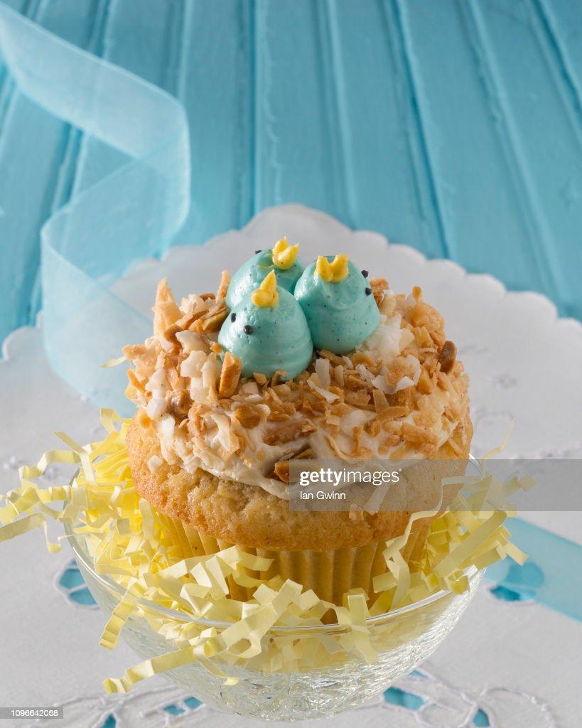 Bluebirds Cupcake : Stock Photo