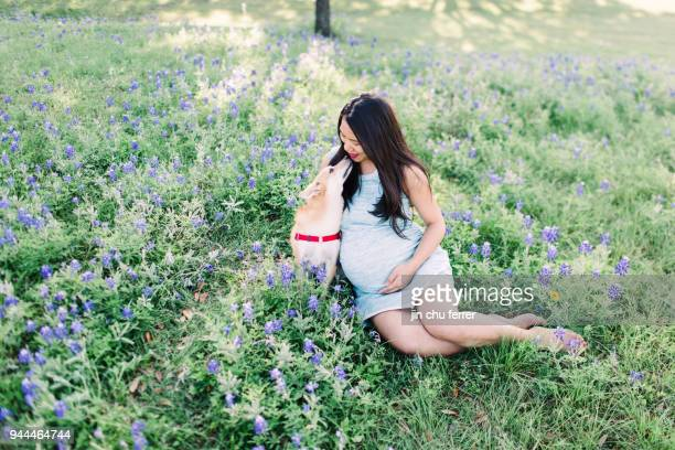Bluebonnets with Fur Baby