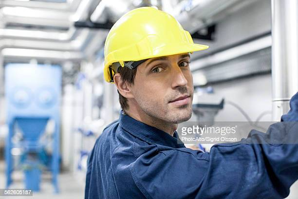 Blue-collar worker, portrait