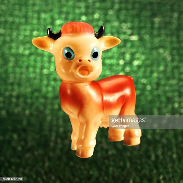 Blue-eyed Cow Figurine
