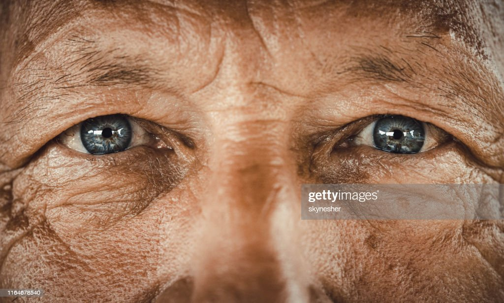 Blue-eyed senior man. : Stock Photo