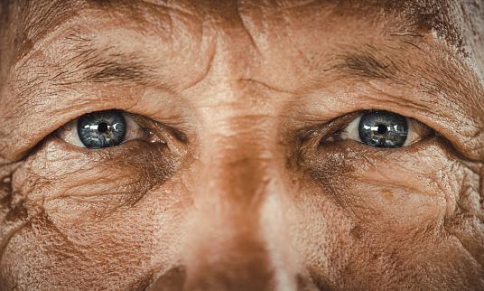 Blue-eyed senior man. 1164678540