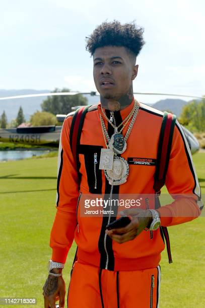 Blueface attends Republic Records Celebrates Their Class Of 2019 In Coachella Valley at Zenyara on April 14 2019 in Coachella California