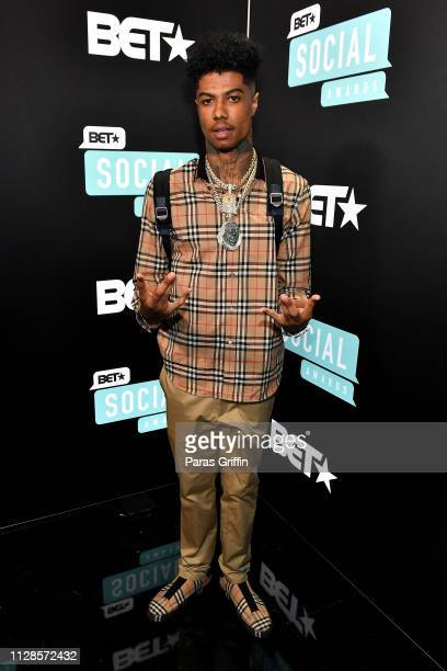 Blueface attends the 2019 BET Social Awards at Tyler Perry Studio on March 3 2019 in Atlanta Georgia